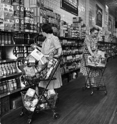 grocery-shopping-retro